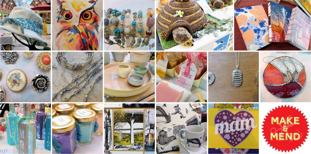 Collage of products at Make and Mend
