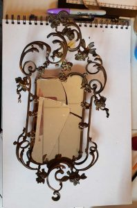 mirror as it arrived