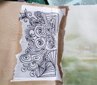 doodling on an envelope
